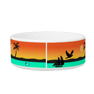 Island Sunset Pet Bowl