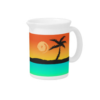 Island Sunset Pitcher
