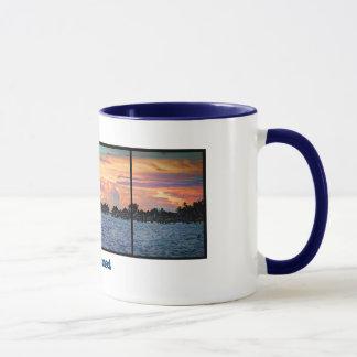 Island Sunset Ringer Mug