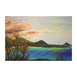 "Island Time -60"" x 40"" Gallery wall canvas Canvas Print"
