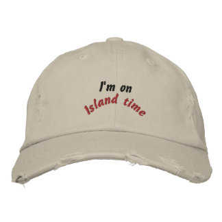 Island time embroidered hat