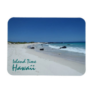 Island Time Hawaii beach scenery souvenir magnet
