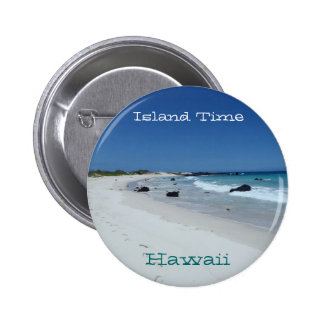 Island Time Hawaii scenic beach souvenir button