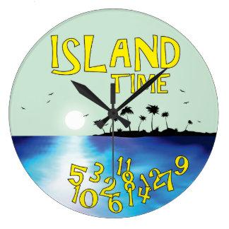 Island Time Large Clock