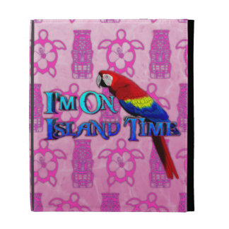 Island Time Parrot iPad Cases