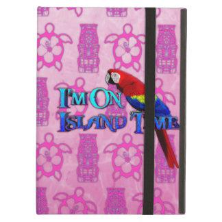 Island Time Parrot iPad Folio Case