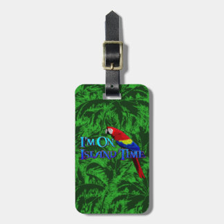 Island Time Parrot Luggage Tag