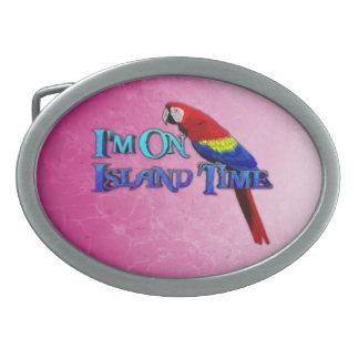 Island Time Parrot Oval Belt Buckles
