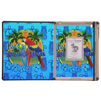 Island Time Sunset And Tikis Cases For iPad
