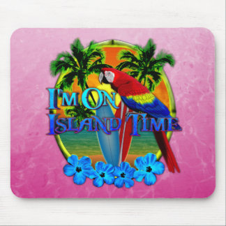 Island Time Sunset Mouse Pads