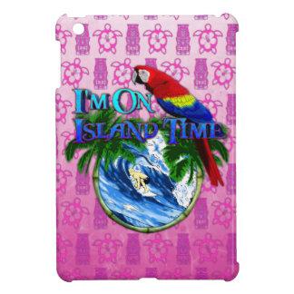 Island Time Surfing Pink Tiki iPad Mini Cover