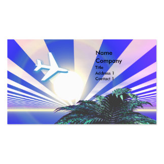 Island Travel Blue - Business Pack Of Standard Business Cards