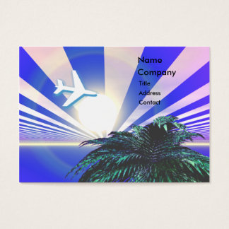 Island Travel Blue - Chubby Business Card