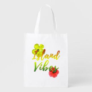 Island Vibes Reusable Grocery Bag