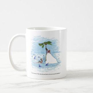 Island Was Level right hand cartoon mug