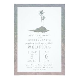 Island & Water Beach Wedding 13 Cm X 18 Cm Invitation Card