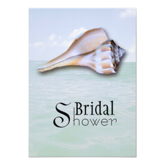 Island Whelk 5x7 Custom Bridal Shower Invitation