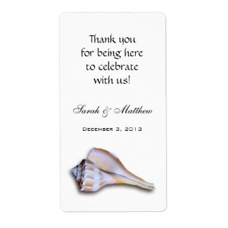 Island Whelk Custom Template Wedding Wine Labels
