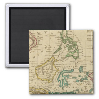 Islands of the East Indies Square Magnet