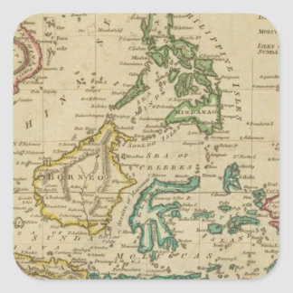 Islands of the East Indies Square Sticker
