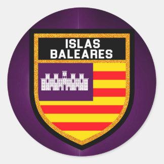 Islas Baleares Flag Classic Round Sticker