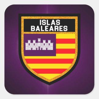 Islas Baleares Flag Square Sticker