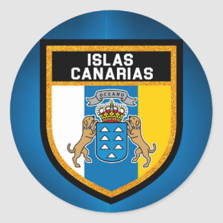 Islas Canarias Flag Classic Round Sticker