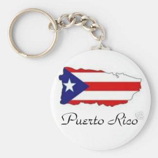 IslaSticker_tn, Puerto Rico Basic Round Button Key Ring