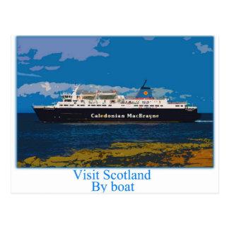 Isle of Arran Ferry - Scotland Postcard