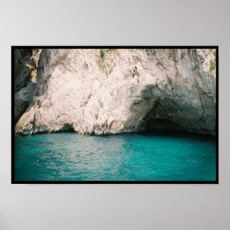 Isle of Capri Blue Grotto Poster