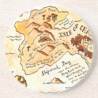 Isle of Chance Treasure Map Coaster
