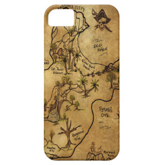 Isle of Lost Treasure Map iPhone 5 Covers