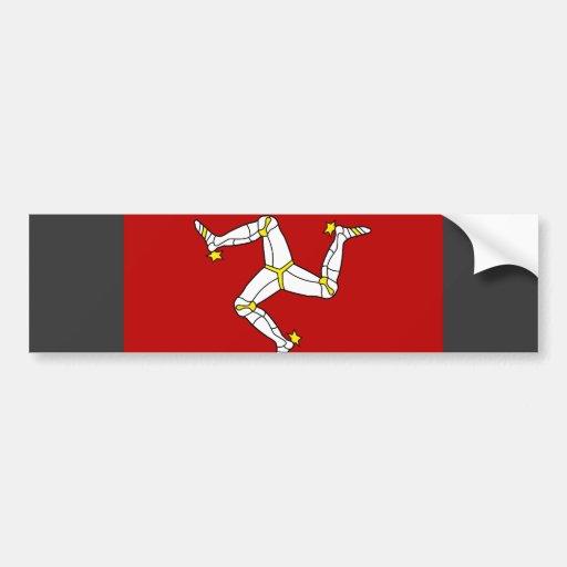 Isle Of Man Flag Bumper Stickers