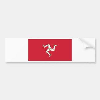 Isle of Man Flag - Manx Flag - Brattagh Vannin Bumper Sticker