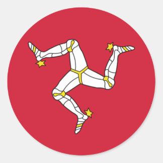 Isle of Man Flag - Manx Flag - Brattagh Vannin Classic Round Sticker