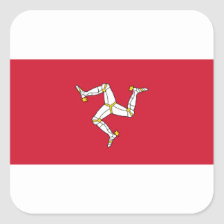 Isle of Man Flag - Manx Flag - Brattagh Vannin Square Sticker