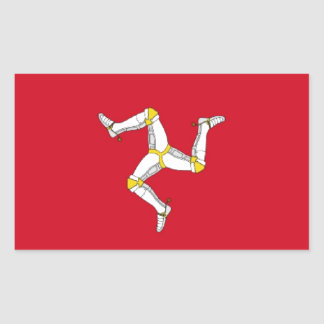 Isle of Man Flag Rectangular Sticker