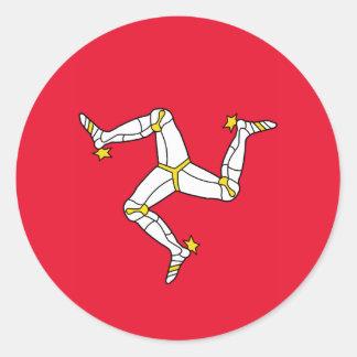 Isle of Man – Manx Flag Classic Round Sticker
