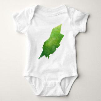 Isle Of Man Map Baby Bodysuit
