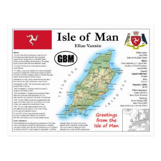 Isle of Man Map Postcard