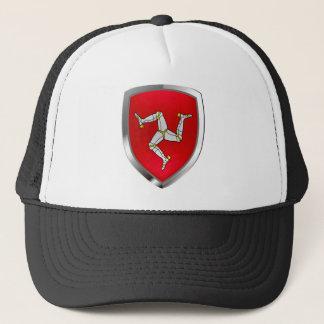 Isle of Man Metallic Emblem Trucker Hat