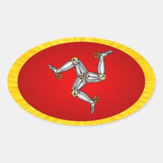 Isle of Man Oval Sticker