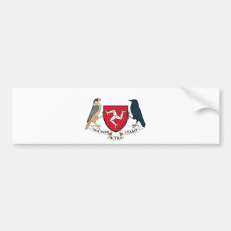 Isle of Man Republican Coat of Arms - Manx Emblem Bumper Sticker