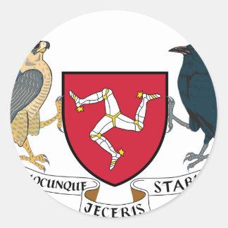 Isle of Man Republican Coat of Arms - Manx Emblem Classic Round Sticker