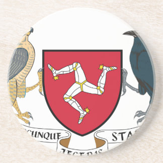 Isle of Man Republican Coat of Arms - Manx Emblem Coaster