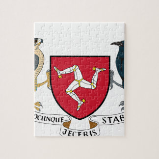 Isle of Man Republican Coat of Arms - Manx Emblem Jigsaw Puzzle