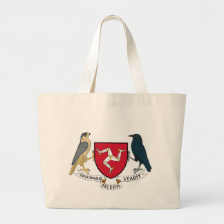 Isle of Man Republican Coat of Arms - Manx Emblem Large Tote Bag