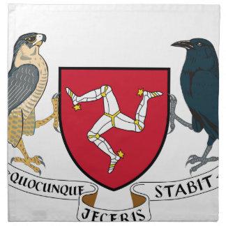 Isle of Man Republican Coat of Arms - Manx Emblem Napkin