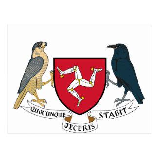 Isle of Man Republican Coat of Arms - Manx Emblem Postcard