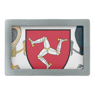 Isle of Man Republican Coat of Arms - Manx Emblem Rectangular Belt Buckle